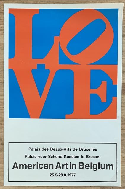 """Robert Indiana, 'Original Vintage Belgian Exhibition Poster, """"American Art in Belgium""""', 1977, Kwiat Art"""