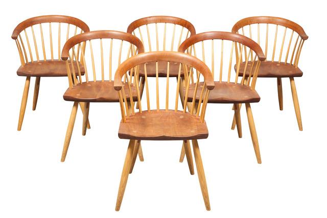 'Set of Six Thomas Moser Cherry Newport Dining Armchairs', 2008, Design/Decorative Art, Doyle