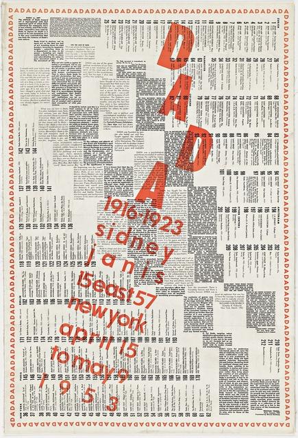, 'DADA ,' 1953, Alpha 137 Gallery