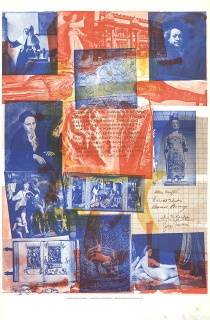 , 'Centennial Certificate,' 1970, ArtWise