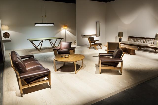 Mogens Lassen, 'Egyptian Table', ca. 1940, Design/Decorative Art, Elmwood, tulipwood, brass, Galerie Eric Philippe