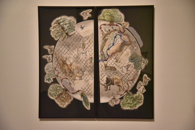 , 'Earth Citizens (diptych), 2017-18,' 2017-2018, Bhau Daji Lad Museum
