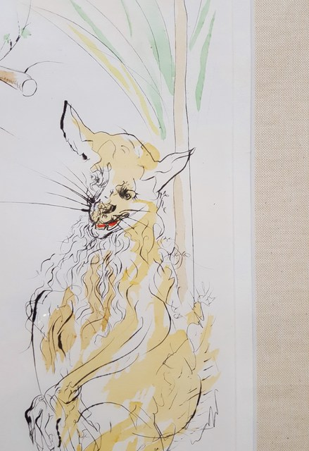 Salvador Dalí, 'Le Corbeau et le Renard (The Raven and the Fox)', 1974, Print, Drypoint Etching, Pochoir, Graves International Art