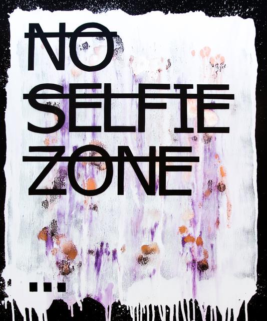 Rero, 'Untitled (NO SELFIE ZONE...)', 2018, Fabien Castanier Gallery