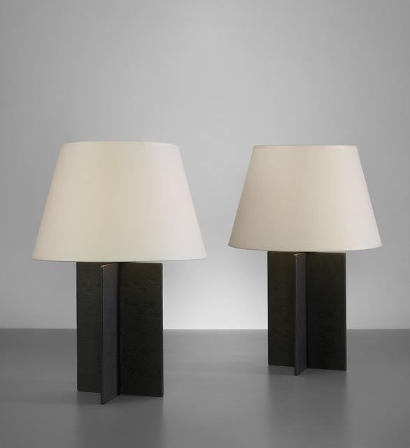 "Jean-Michel Frank, 'Pair of ""Croisillon"" table lamps', circa 1940, Phillips"