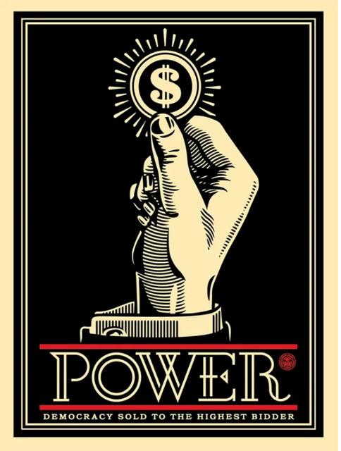 Shepard Fairey (OBEY), 'Power Bidder', 2015, Art for ACLU Benefit Auction
