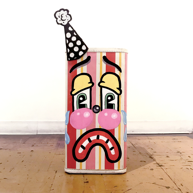 , 'Sad Stripped Suitcase,' 2018, La Luz de Jesus Gallery
