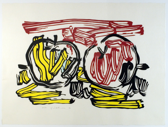 Roy Lichtenstein, 'Red Apple and Yellow Apple', 1983, Print, Woodcut/screenprint, Collectors Contemporary