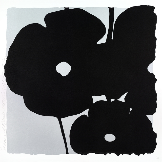 , 'Reversal  Poppies: Silver and Black, November 6, 2015,' 2015, William Campbell Contemporary Art, Inc.