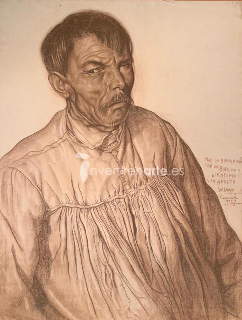 Wifredo Lam, 'Retrato de hombre vestido de claro', 1927, Invertirenarte.es