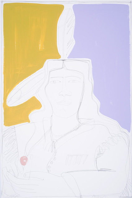 , 'Two Feathers in Violet and Beige,' , JoAnne Artman Gallery