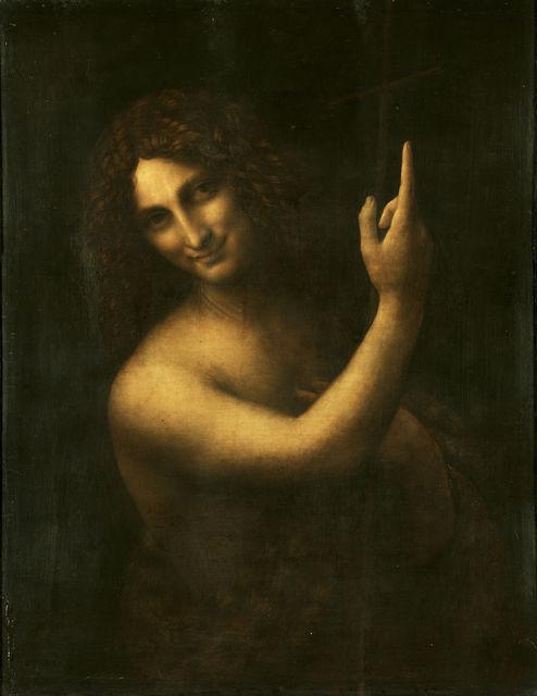 Leonardo da Vinci, 'Saint John the Baptist', 1513-1515, Musée du Louvre