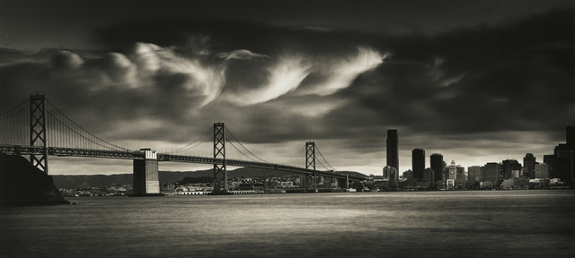 , 'Billowing Clouds Over Bay Bridge,' 2010, Photography West Gallery