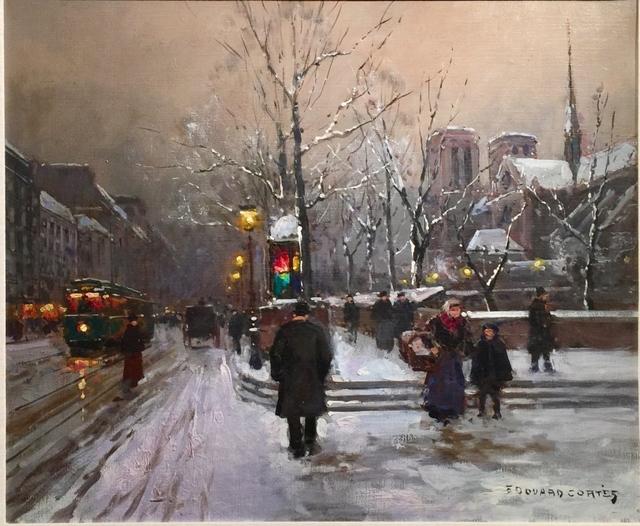 , 'Snow Scene, Paris,' , Cosmopolitan Fine Arts