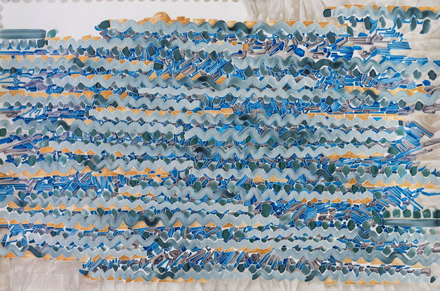 , 'Details of my abstract painting that form a parallel world composed of machines. NO. 22 ,' 2014, A+ Contemporary