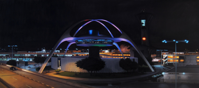 Danny Heller, 'LAX Theme Building Panorama at Night', 2011, Painting, Oil on canvas, George Billis Gallery