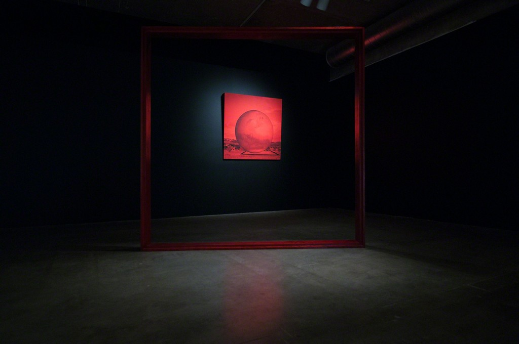 MPA, Red Frame, 2014 and Mars, 2014-15. THE INTERVIEW: Red, Red Future, Contemporary Arts Museum Houston, Houston, TX, 2016. Courtesy the artist and Contemporary Arts Museum Houston. Photo: Max Fields.