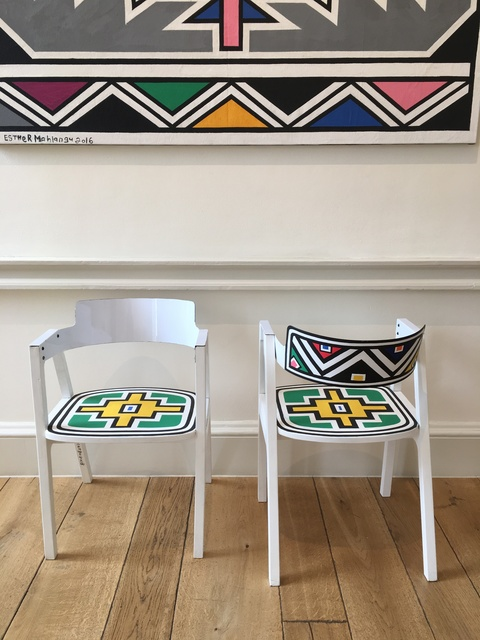 Esther Mahlangu, 'Untitled', 2018, Design/Decorative Art, Acrylic on chair, Malin Gallery
