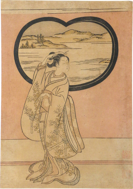 , 'Three Evenings: Illustration to a Poem by Jakuren Hoshi,' ca. 1765, Scholten Japanese Art