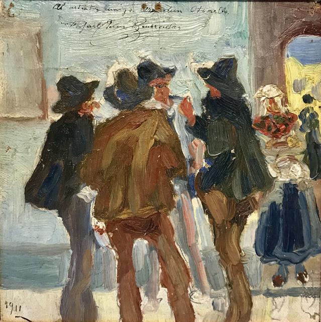 """Rafael Barradas, '""""Personajes conversando""""', 1911, Tazart"""
