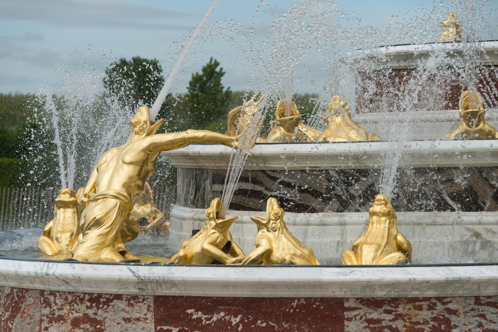 View of the Latona Fountain at Château de Versailles