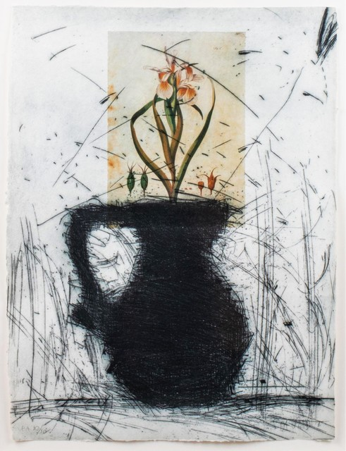 Manolo Valdés, 'Flores III', 1994, Print, Original etching with unique hand-coloring and collage, michael lisi / contemporary art
