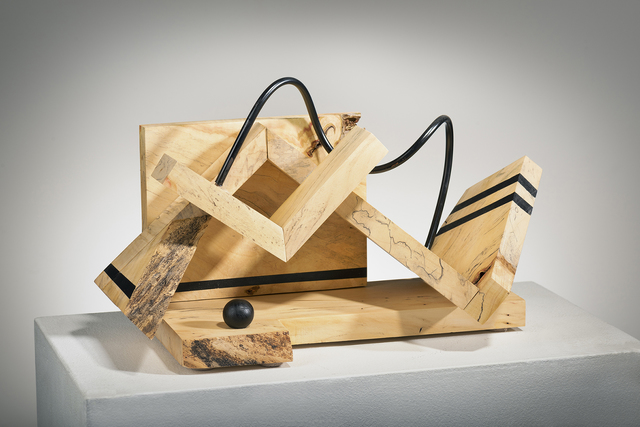 """Betty McGeehan, 'Minimal Wood Abstract Sculpture: """"The Art of Mediation'', 2018, Ivy Brown Gallery"""