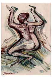 Desnudo Feminino de Espalda