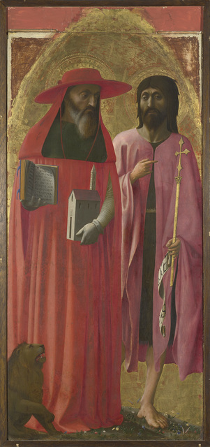 Masaccio, 'Saints Jerome and John the Baptist', about 1428-1429, Painting, The National Gallery, London