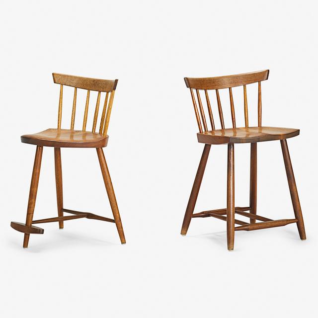 George Nakashima, 'Mira Chair and Four-Legged Chair, New Hope, PA', 1963, Rago
