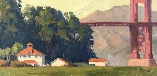""", 'Postcard Day by Paul Kratter, oil on board, 20"""" x 10"""" - $1800 framed,' , STUDIO Gallery"""