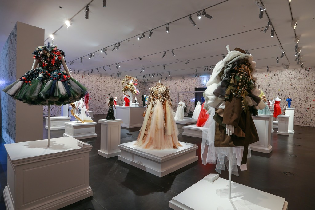 Installation view of Viktor&Rolf: Fashion Artists at the National Gallery of Victoria (2016). Photo: Wayne Taylor