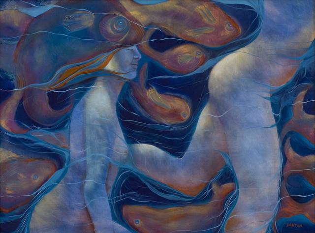 Susan Reid Danton, 'Swimming with Cetaceans', 2014, Painting, Oil/Panel, Miller White Fine Arts