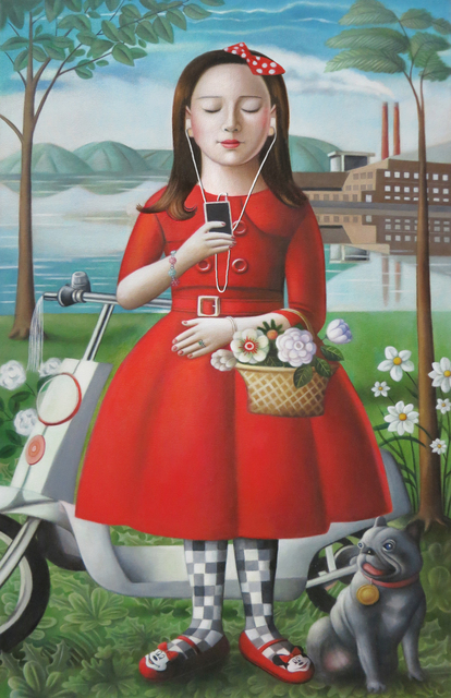 , 'Girl with Skooter,' , Front Room Gallery