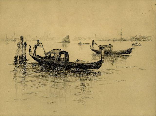 , '[Venetian Scene, Gondolas],' , Childs Gallery