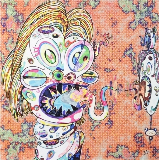 Takashi Murakami, 'Homage to Francis Bacon (Study for Head of Isabel Rawsthorne and George Dyer) Left ', 2016, Vogtle Contemporary