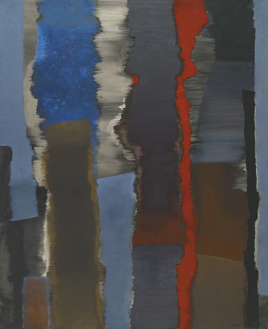 , 'Räume vertikal – mit Rot,' 1966, Ludorff