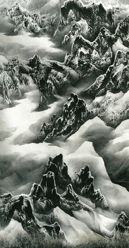 , 'Clouds and Mountains in Play,' 2003, Galerie du Monde