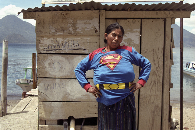 , 'Super Girl in Atitlán [Superchica en Atitlán],' 2003, Museo de Arte de El Salvador (MARTE) and MARTE Contemporary (MARTE-C)