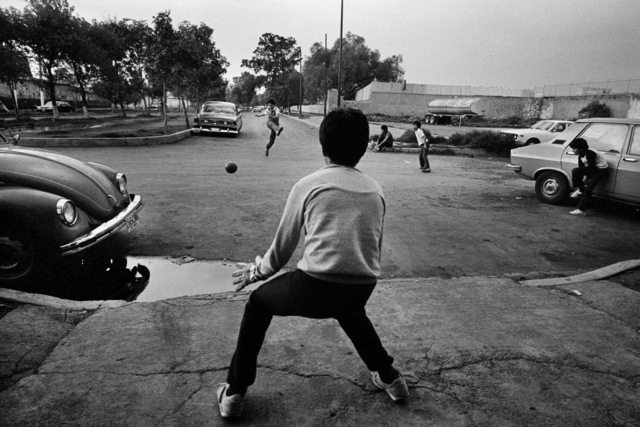 , 'Playing football in Mexico City,' 1986, Raffaella De Chirico