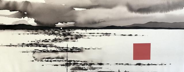 David Middlebrook, 'Storm, Desert, China and I', 2019, Painting, Ink and acrylic on canvas, Art Atrium