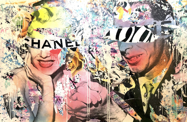 DAIN, 'Coca Chanel', 2019, Painting, Wheat-paste, acrylic and spray paint on canvas, Avant Gallery