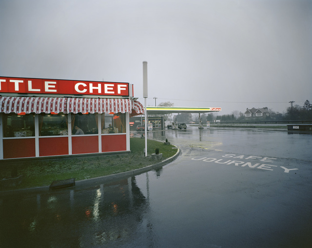 , 'Little Chef in Rain St Neots, Cambridgeshire, May 1982, from the series A1 - The Great North Road,' 1982, Anthony Reynolds Gallery