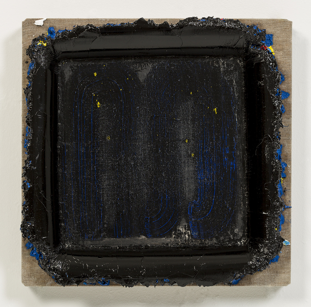 , 'Blue Black Square Restretch,' 2015, David Kordansky Gallery