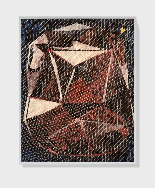 , 'Traces VIII (Baccarat Red),' 2020, Sabrina Amrani
