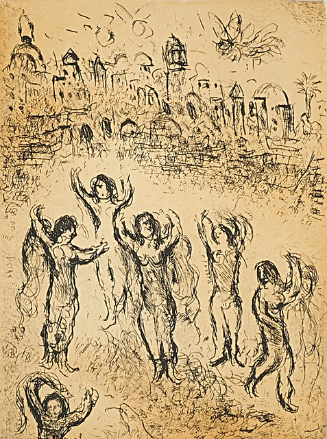 Marc Chagall, 'Plate 30, from Psalms of David', 1980, Print, Etching and aquatint in colors on wove paper (framed), Rago/Wright