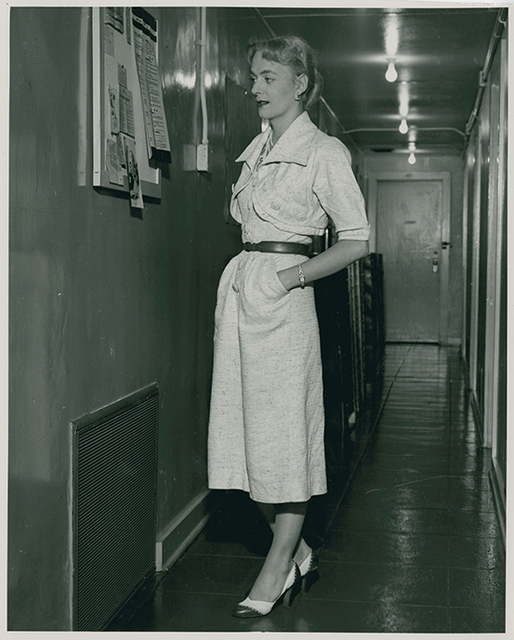 , 'Christine Jorgensen visiting the Institute for Sex Research, Indiana University, Bloomington, IN, 1953,' 1953, Cantor Fitzgerald Gallery, Haverford College
