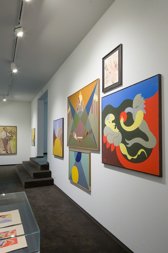 Exhibition view with artworks by Rudolf-Urech Seon (photo: Markus Beyeler)