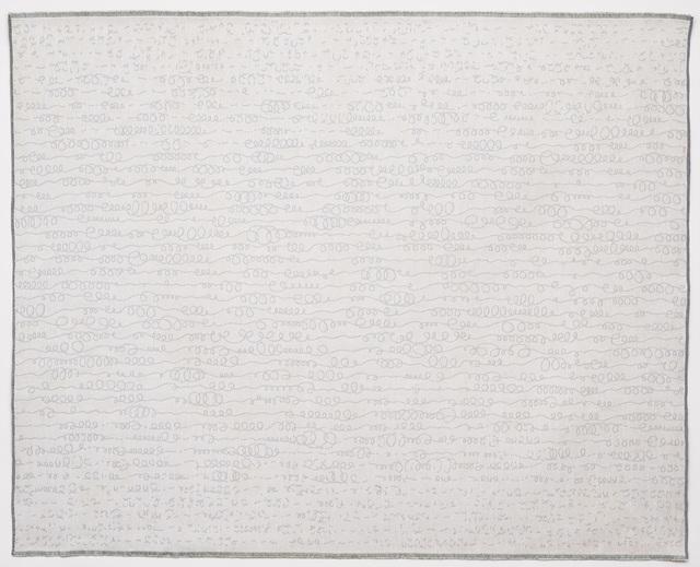 Solveig Aalberg, 'Energy lines – grey', 2012, Painting, Digital jacquard loom, stitching / Linen, cotton, Alfa Gallery