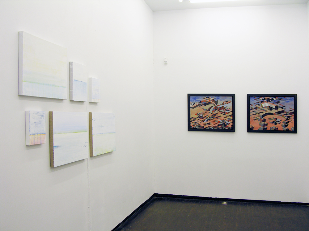 Installation view of 'Original Show, Season One' Curated by Stephen Hepworth. Featuring Matthew Abbott (pictured), Carl Fudge, and Joey Køtting (pictured). June 21 - July 24, 2015